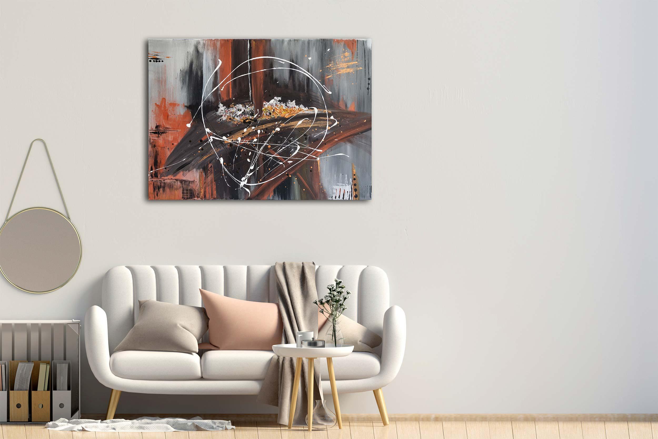 """Abstraktes Gemälde - """"Aufgespießt"""" - 102"""