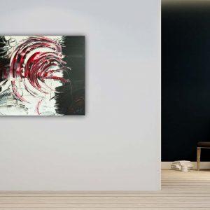 """Abstraktes Gemälde """"RED TORNADO"""" - Unikat - 117"""