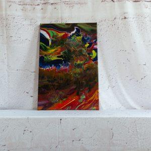 "Acrylic Pouring - Acrylic Fluid Painting ""Color Explosion"" Unikat (135)"