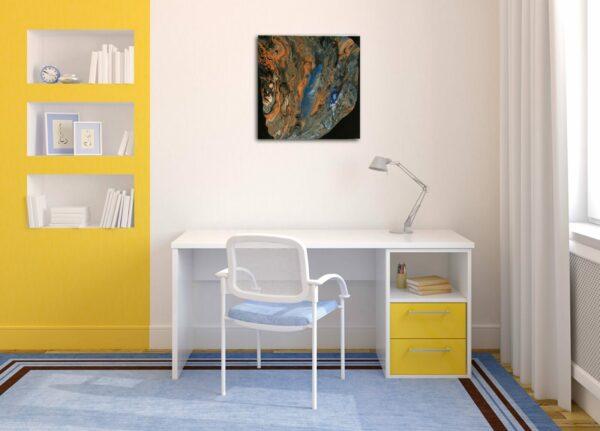 "Acrylic Pouring - Acrylic Fluid Painting ""LAVA BLUE"" Unikat (143)"