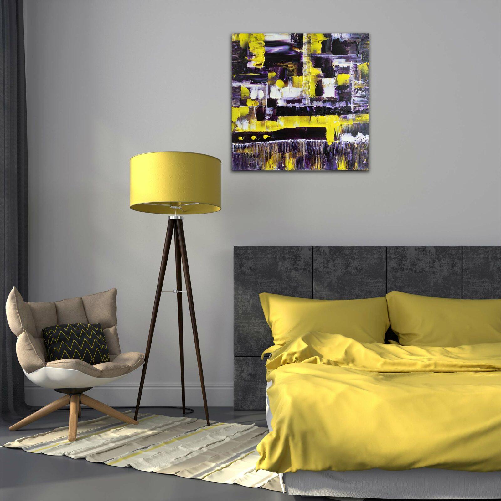"""Abstraktes Wandbild - Acryl Gemälde - """"Violett"""" Unikat - 166"""