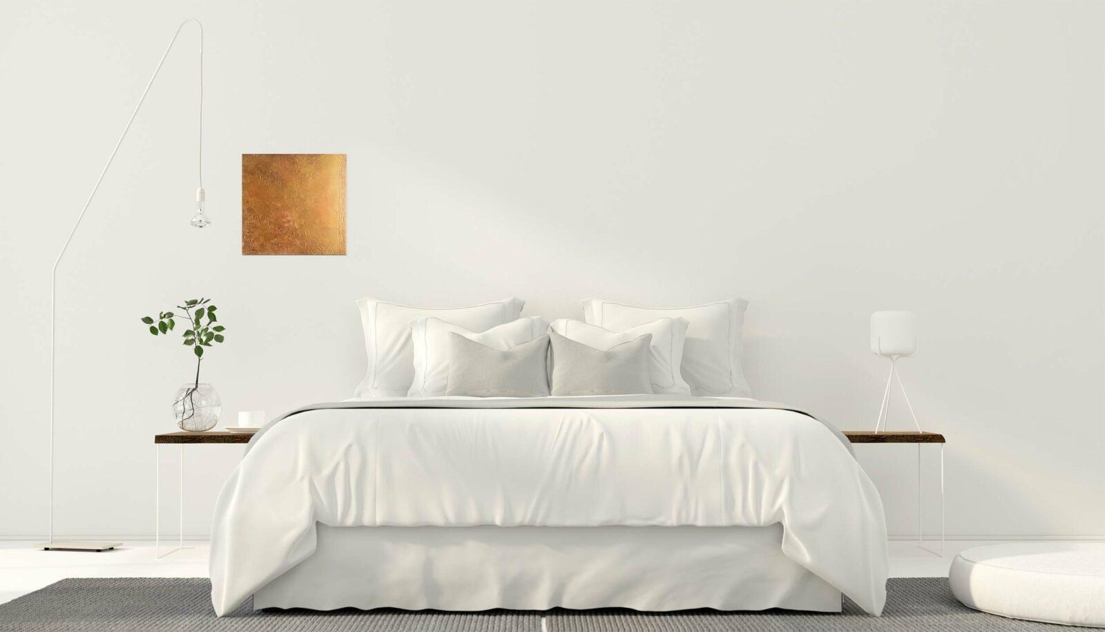 """Abstraktes Wandbild - Acryl Gemälde - """"Gold & Bronze"""" Unikat - 173"""