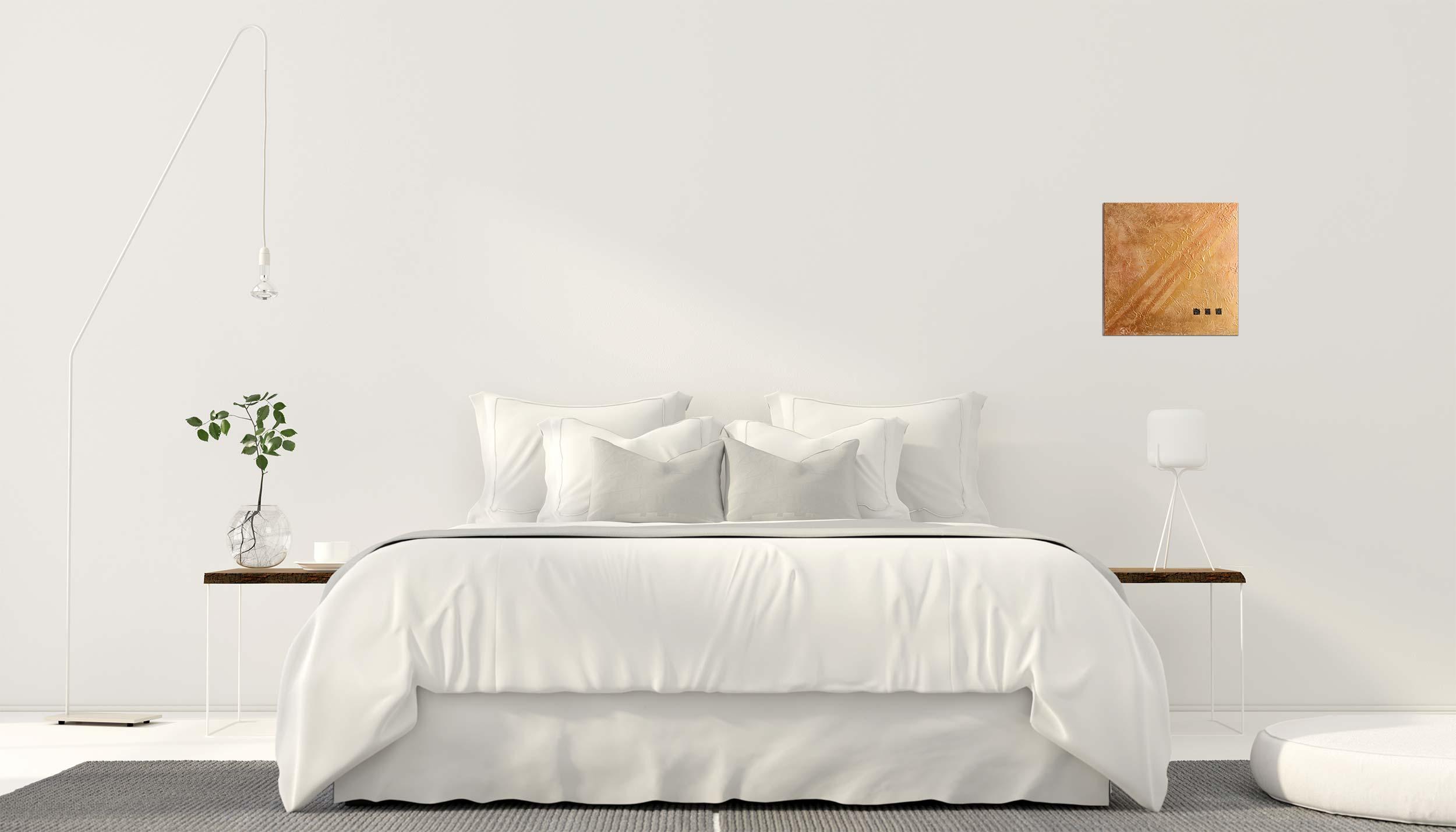 """Abstraktes Wandbild - Acryl Gemälde - """"Gold & Bronze"""" Unikat - 171"""
