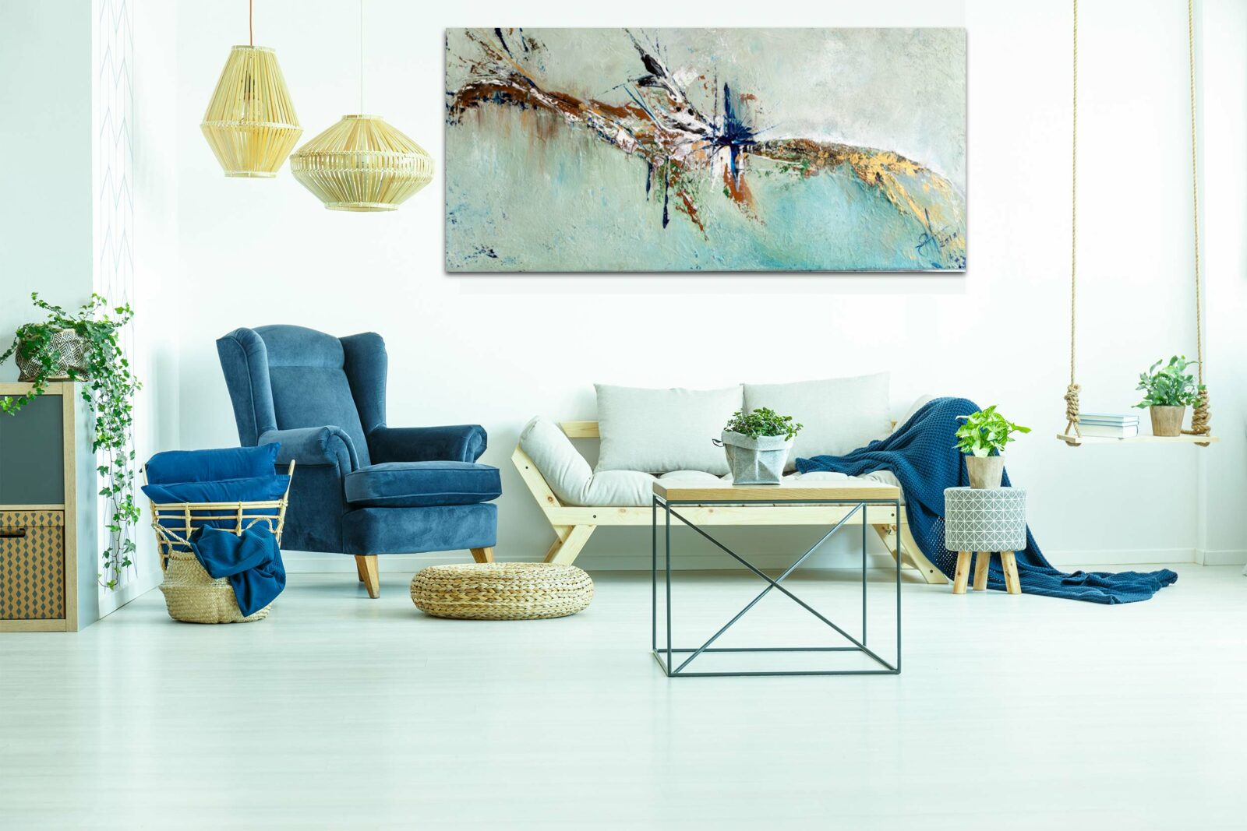 """Abstraktes Wandbild - Acryl Gemälde - """"Impression"""" Unikat - 174"""