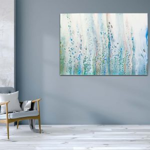 "Acrylic Pouring ""Flowers in the wind"" Originalbild, Unikat (182)"