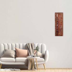 """3-teiliges Bilderset - Abstraktes Gemälde """"Daydream"""" Bronze - Unikat - 187"""