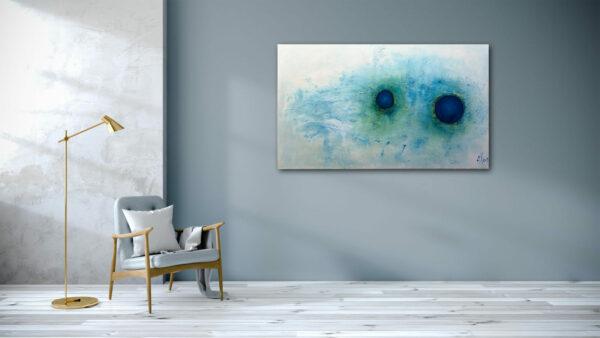 "Abstraktes Wandbild – Acryl Gemälde – ""Blick vom Weltall"" Unikat handgemalt (199)"
