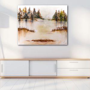 "Abstraktes Acryl Gemälde ""Herbststimmung"" Unikat (200)"