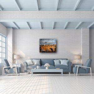 "Abstraktes Acryl Gemälde ""Loft-Blue"" Unikat (201)"