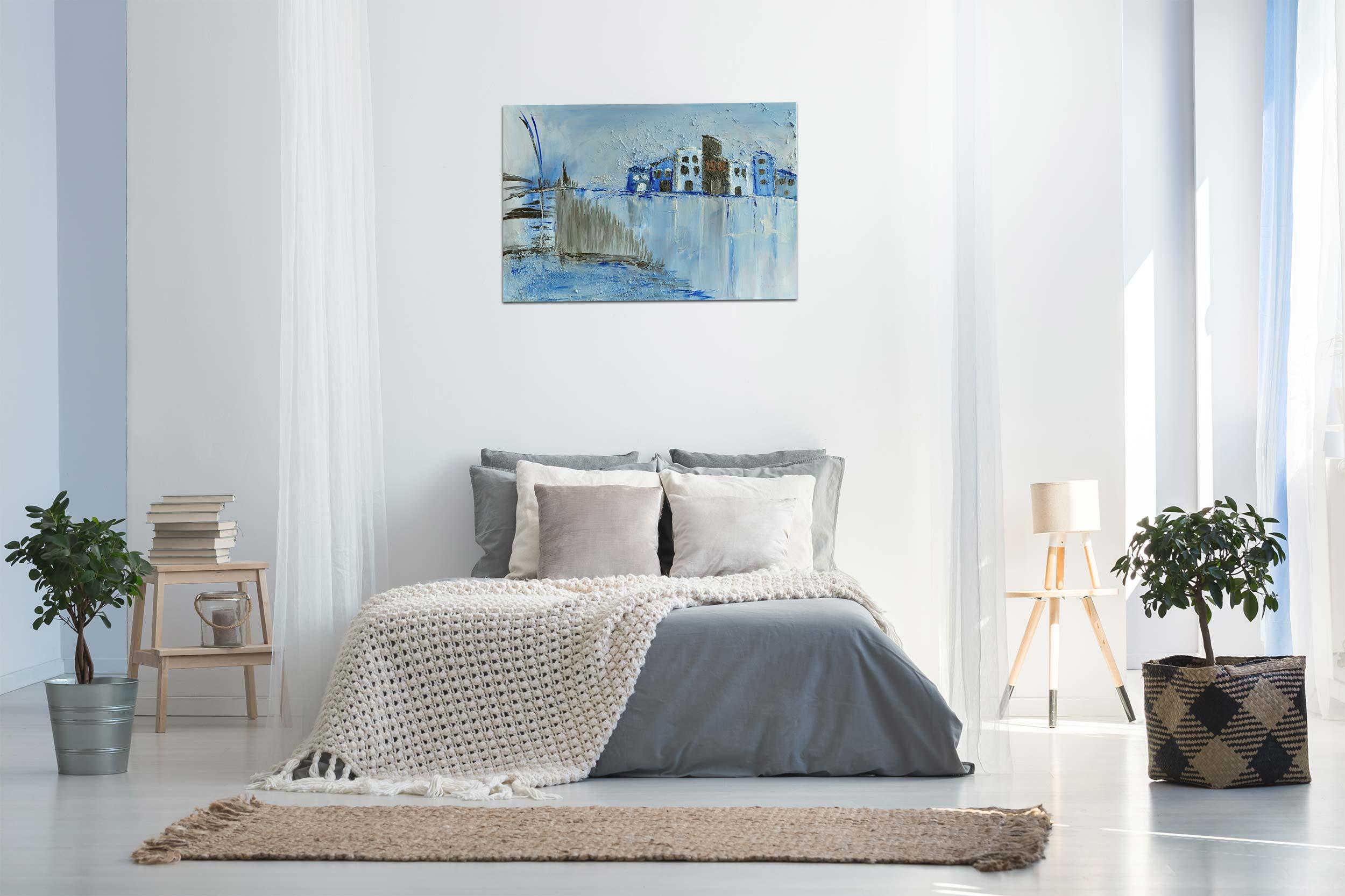 """Abstraktes Wandbild – Acryl Gemälde – """"Eiszeit"""" Unikat – 124"""