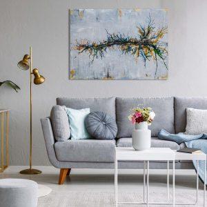 "Abstraktes Gemälde ""Wunderbaum"" – Unikat – 219 Originalbild, handgemalt, Gabriele Hofer"