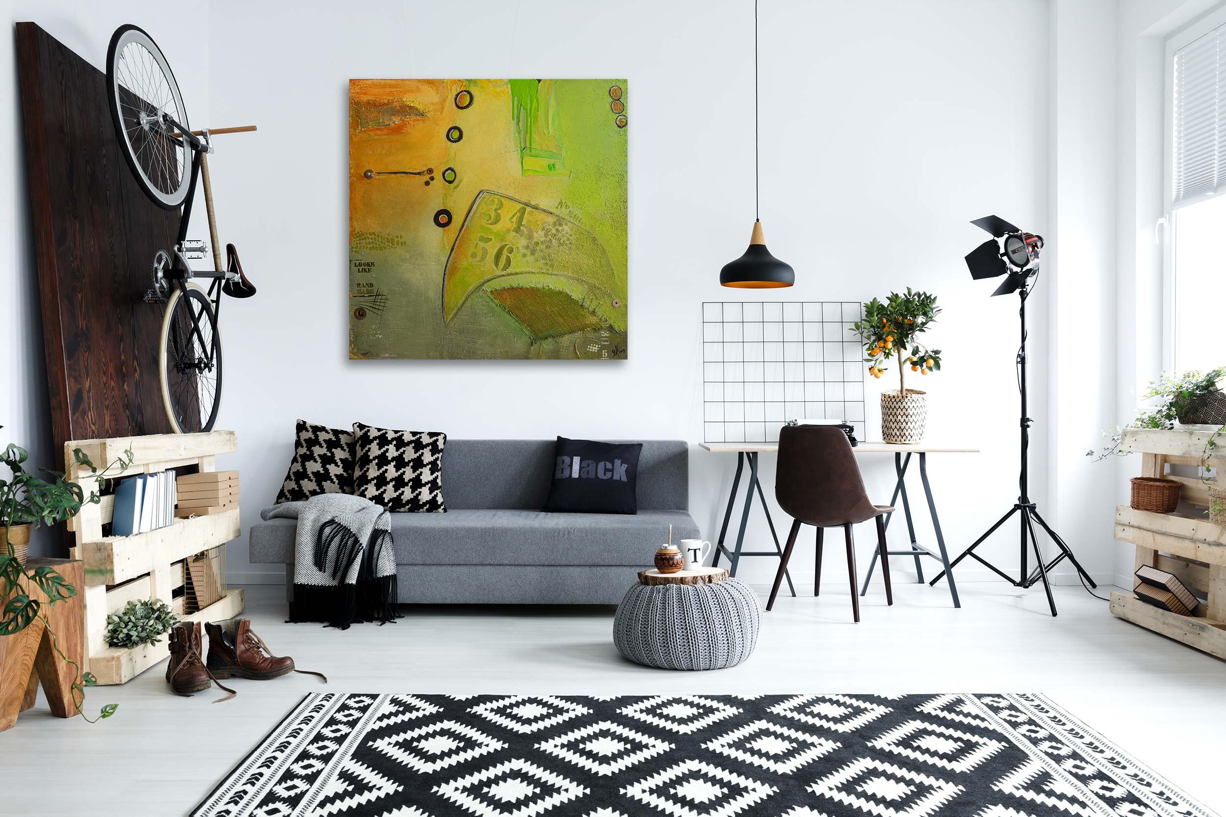 """Abstraktes Acryl Gemälde """"Loft LOOKS LIKE″ Unikat, handgemalt (226) Gabriele Hofer"""