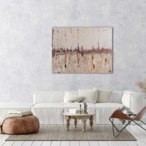 """Extravagantes, abstraktes Wandbild – Acryl Gemälde – """"Bronze Skyline"""" Unikat handgemalt (193)"""