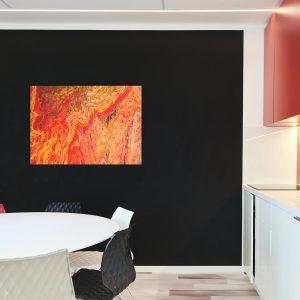 "Acrylic Pouring – Acrylic Fluid Painting ""LAVA"" Unikat (138)"