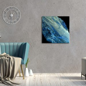 "Acrylic Pouring - Acrylic Fluid Painting ""Blue Water"" Unikat (142)"