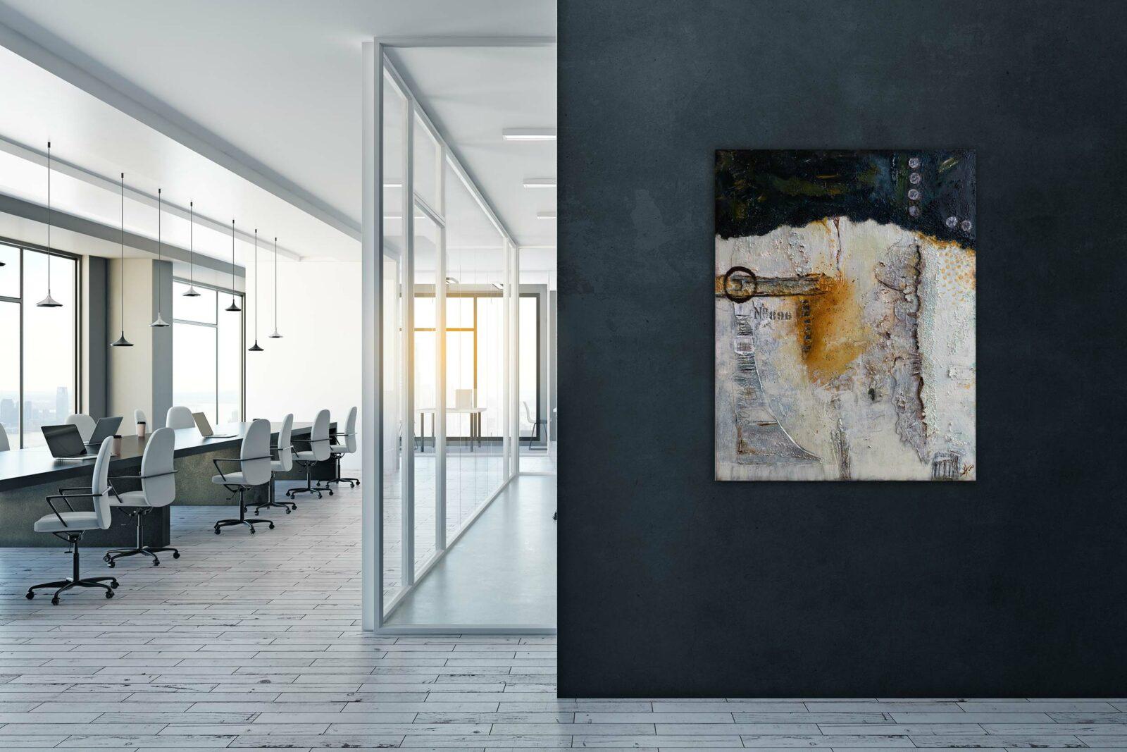 "Abstraktes Acryl Gemälde ""Abriss Unikat (202) - Gabriele Hofer"