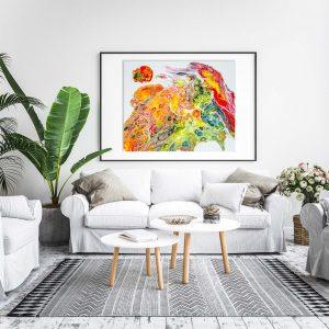 "Acrylic Pouring - Acrylic Fluid Painting ""Utopia"" Unikat (235)"
