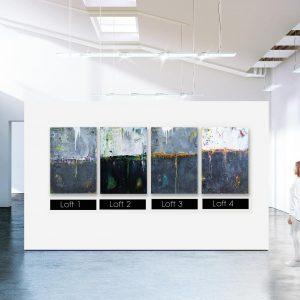 "Abstrakte Acryl Gemälde ""Loft Nr.1, Nr.2, Nr.3, Nr.4″ Unikat, handgemalt (239)"
