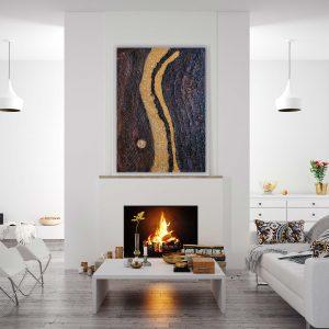 "luxuriöses, abstraktes Acryl Gemälde ""Golden River"" - Unikat - 190 ©G-Hofer_TEXTAG-GROUP"