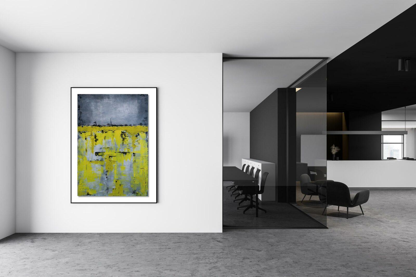 "Abstraktes Acryl Gemälde ""Impression YELLOW"" Unikat (209)"