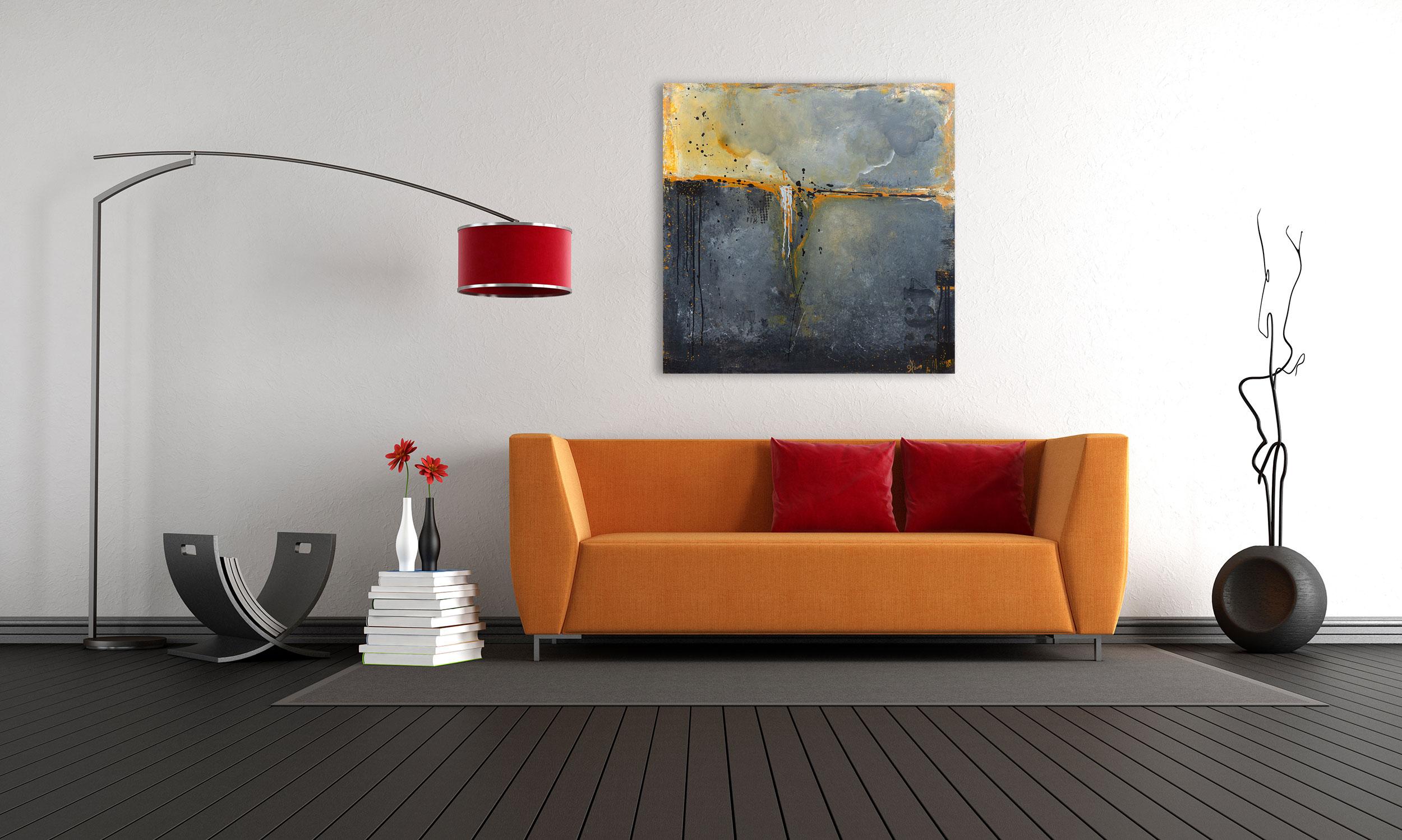 "Abstraktes Acryl Gemälde ""Loft Gewitter″ Unikat, handgemalt (224) Gabriele Hofer"