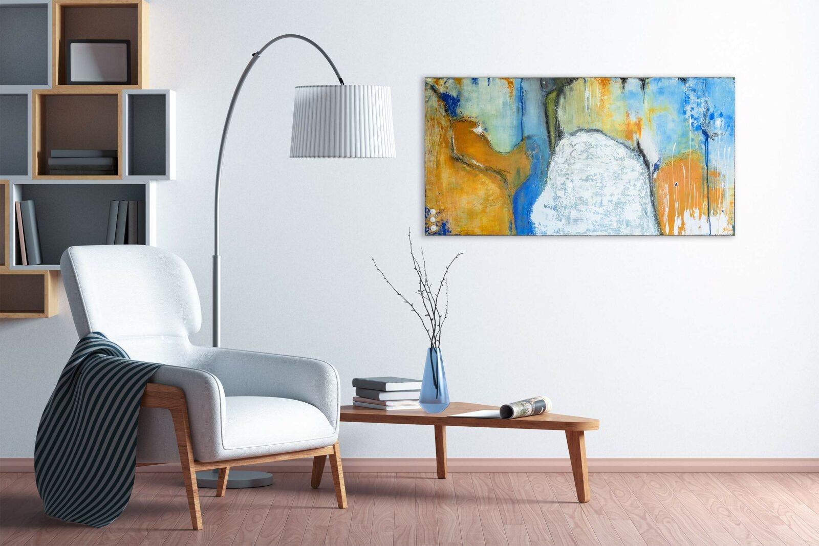 "Moderne Malerei Acryl Gemälde ""Spirit″ Unikat, handgemalt (243)"