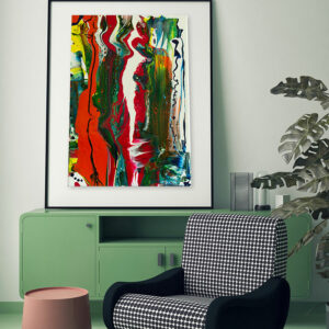 "Wandbild: Acrylic Pouring - Acrylic Fluid Painting ""Color Explosion"" Unikat (147)"