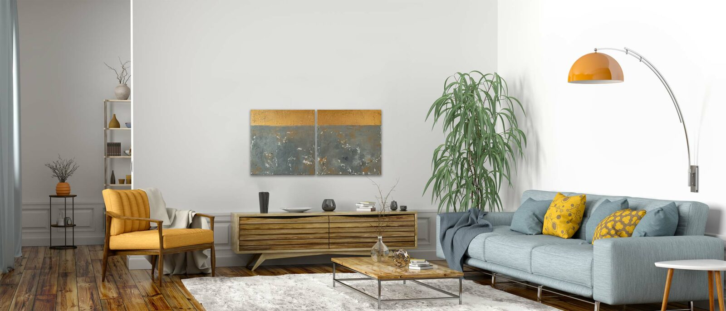 "2er-Set abstraktes Acryl Gemälde - ""LOFT II"" Unikat (248)"