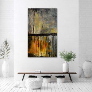 "Moderne Malerei, abstraktes Wandbild – Acryl Gemälde – ""Gewitter"" Unikat (198)"