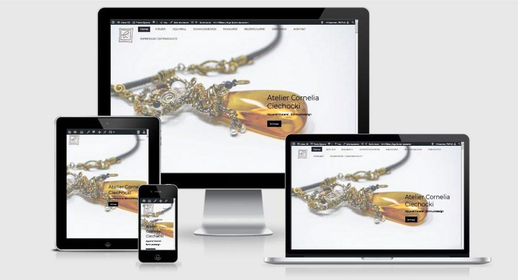 Webdesign Referenz: Atelier-CC-Ruegen