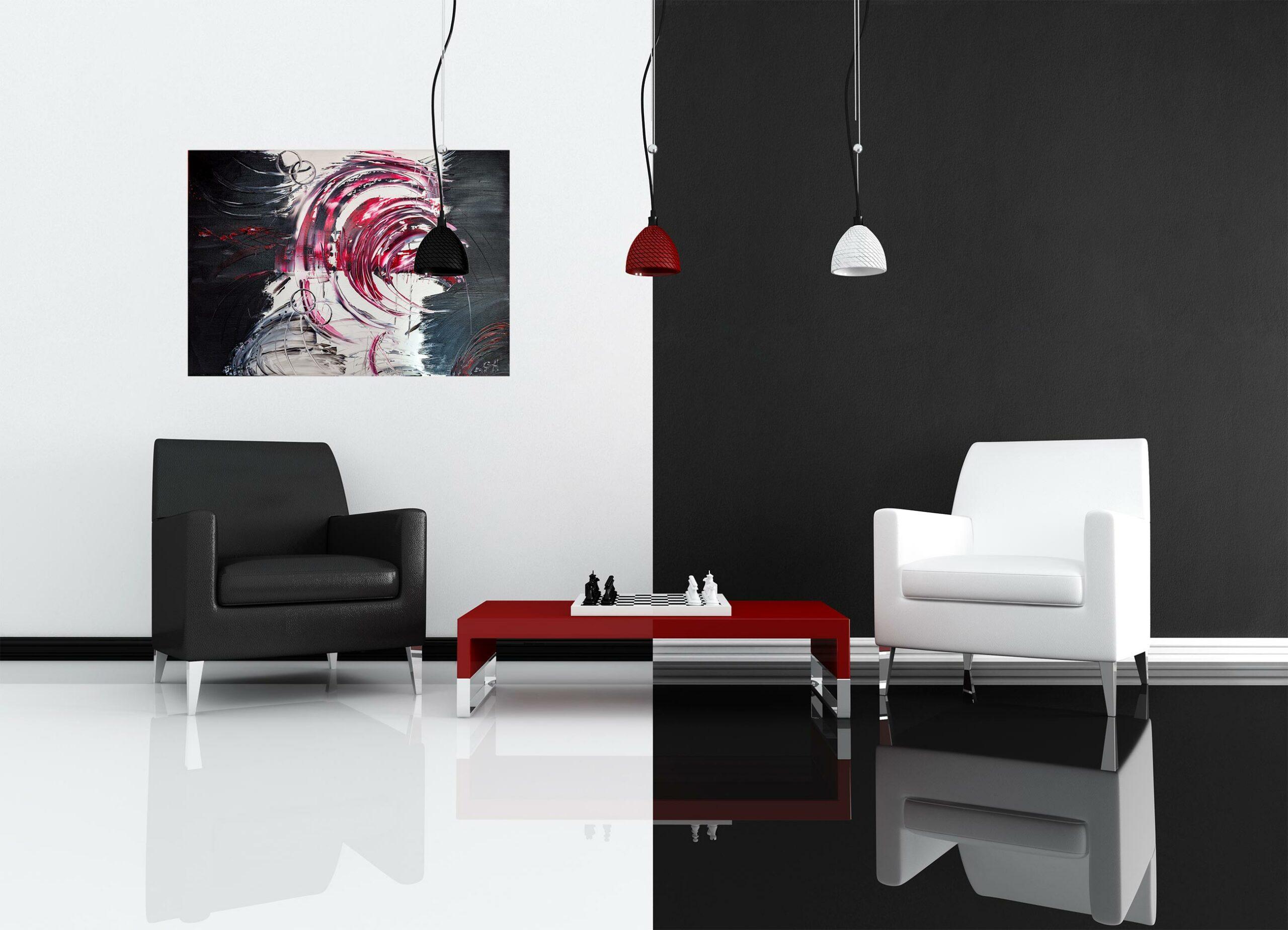 "Abstraktes Gemälde ""RED TORNADO"" – Unikat – 117 Originalbild, handgemalt, Gabriele Hofer"