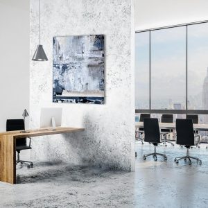 "Abstraktes Acryl Gemälde Mixed Media ""Blue Jeans"" Unikat - Exklusive Home Decoration (258)"