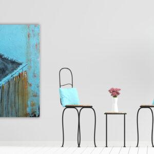 "Abstraktes Acryl Gemälde - ""LOFT - RAIN"" Unikat, handgemalt (216) handgemalt - Gabriele Hofer"