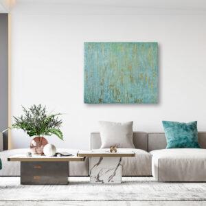 "Abstraktes Acryl Gemälde Mixed Media ""Metallic"" Unikat - Exklusive Home Decoration (257)"