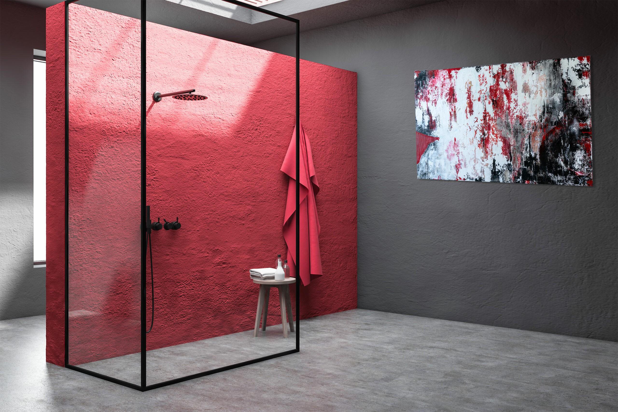 """Exklusives abstraktes Acryl Gemälde """"Red Industrial"""" Moderne Kunst - Unikat (266)"""