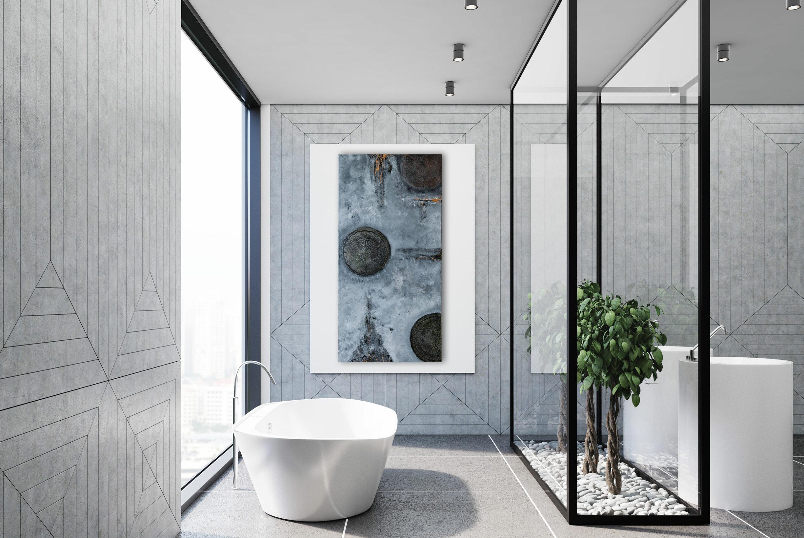 "Exklusives abstraktes Gemälde ""Oranament"" Moderne Kunst - Unikat (267)"